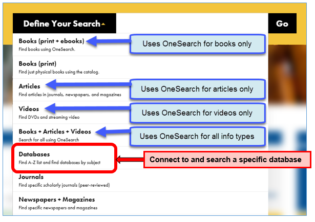 Define Your Search Options