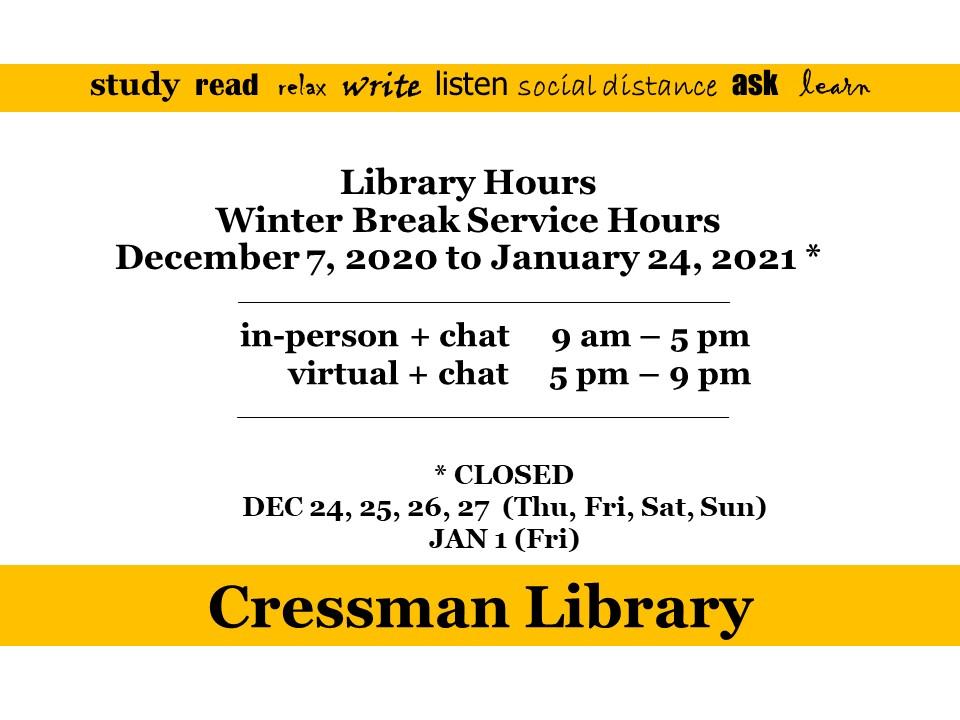 20-21 fall winter break library hours
