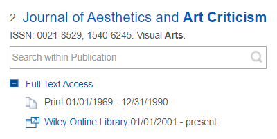 journal of aesthetics and art criticism image