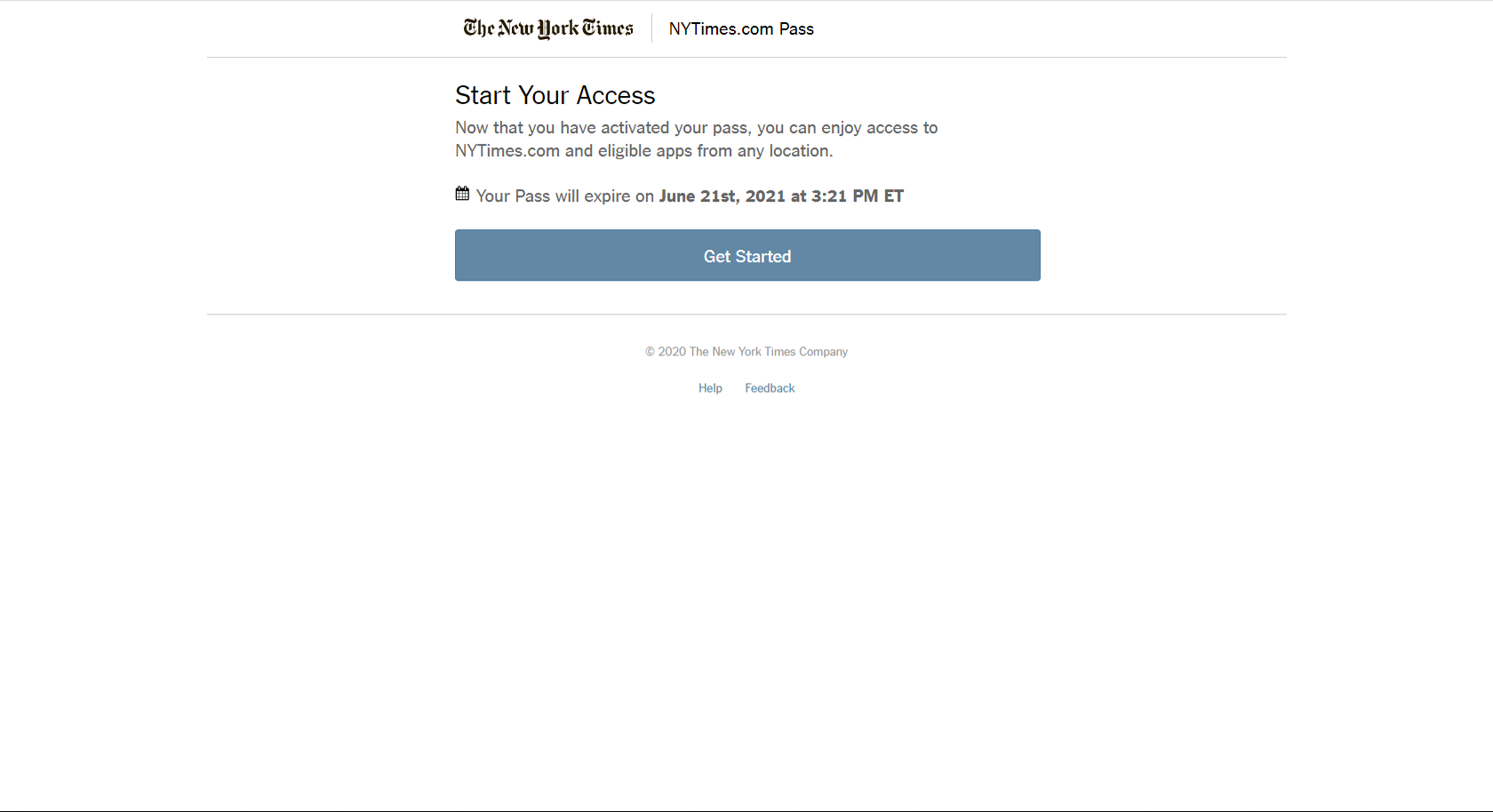 NYT registration screen 3