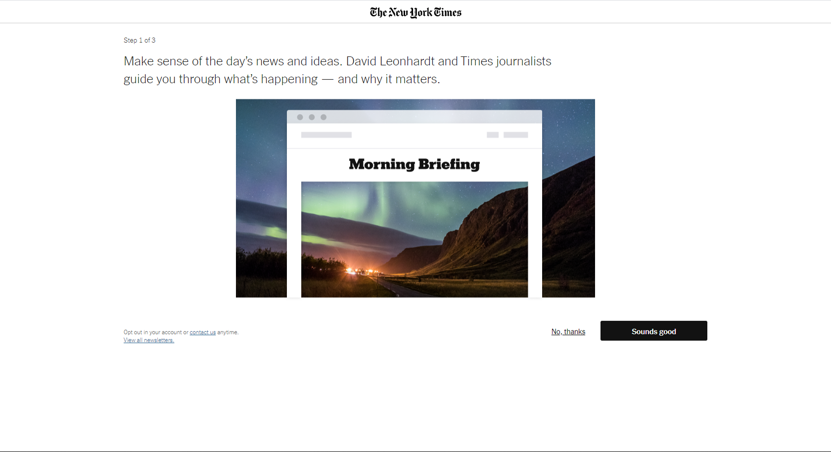 NYT registration screen 4