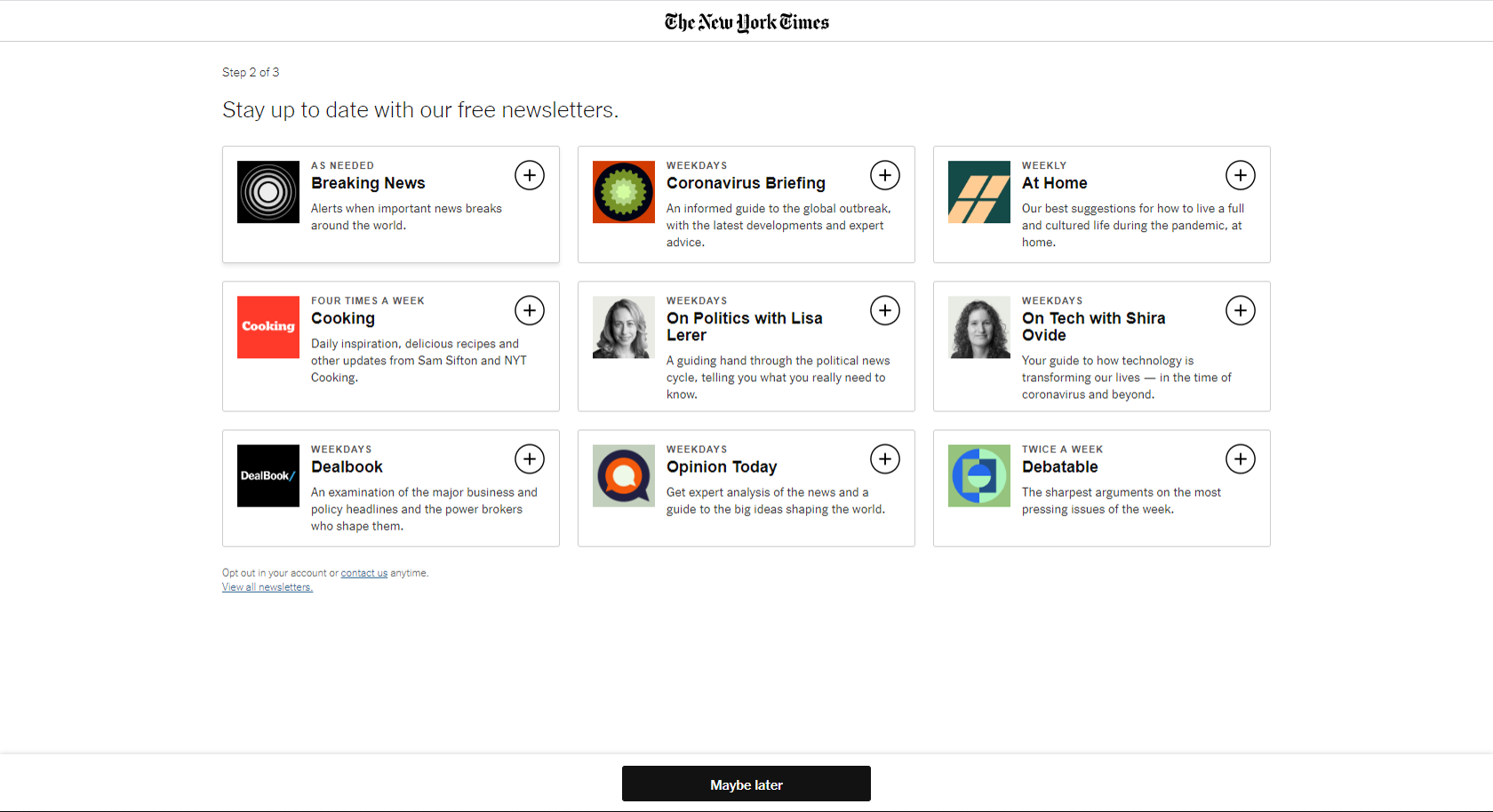 NYT registration screen 5