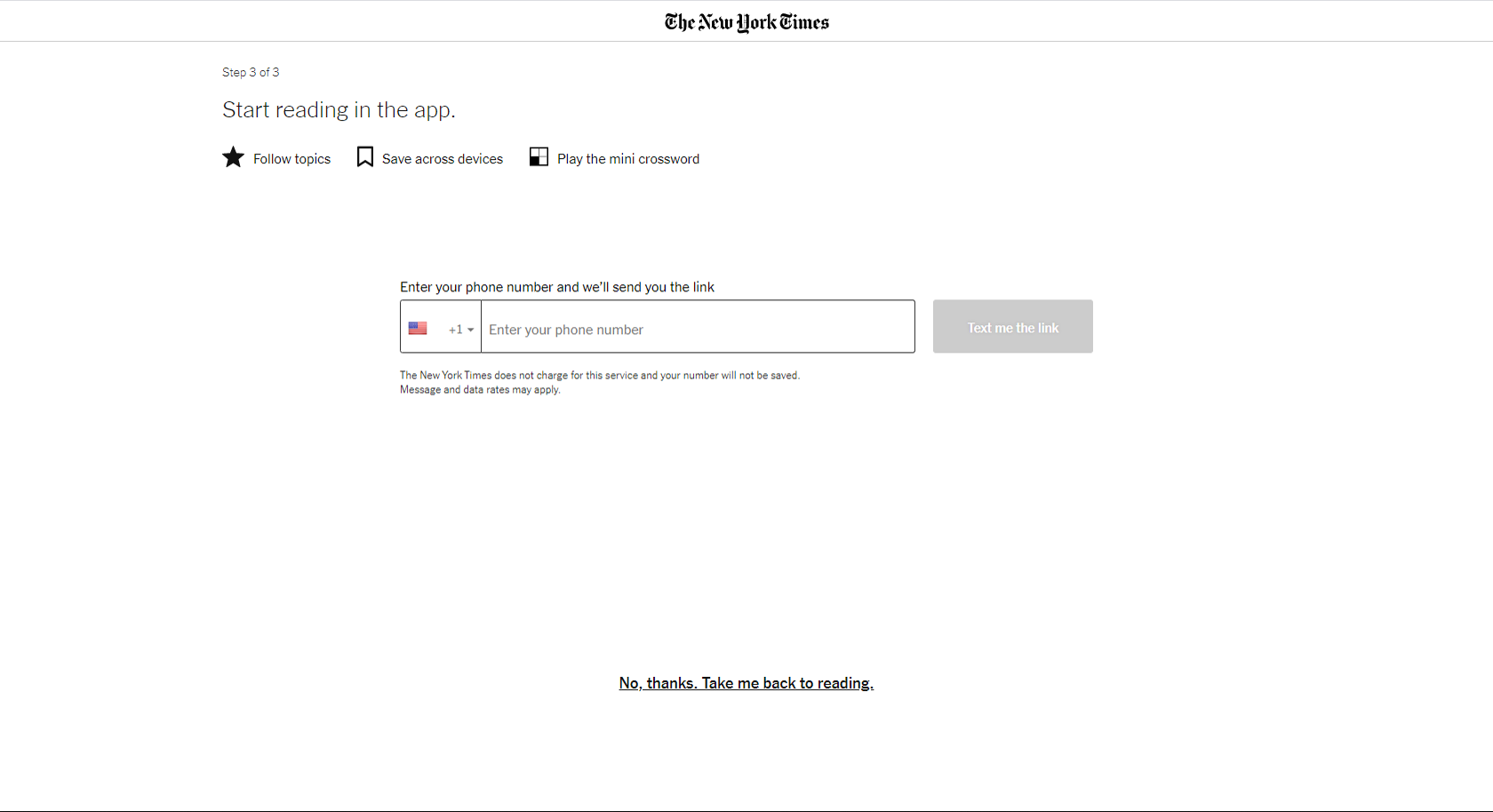 NYT registration screen 6