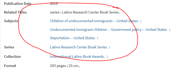 "catalog record showing subject headings ""undocumented immigrants"""