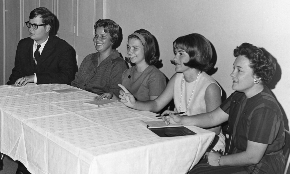 Panelists for Free Will Baptist Student Fellowship - First Fall 1967 Meeting