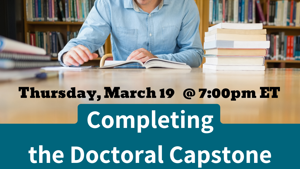 Completing the Doctoral Capstone