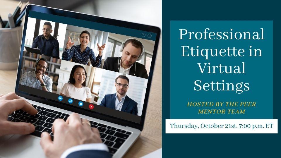 Professional Etiquette Webinar