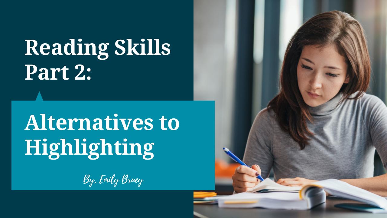 Reading Skills Part 2 Blog Post
