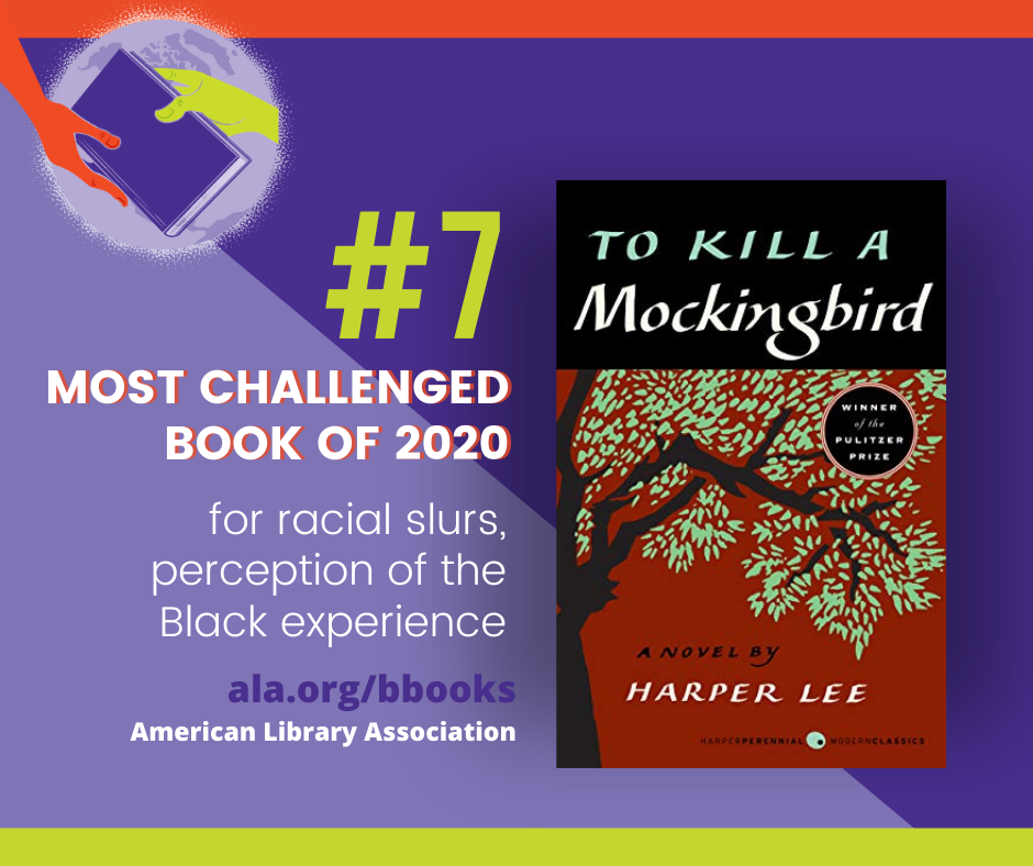 To Kill a Mockingbird #7 Most Challenged Book of 2020 for racial slurs, Perception of the Black experience