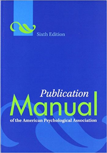 Cover for the APA Publication Manual