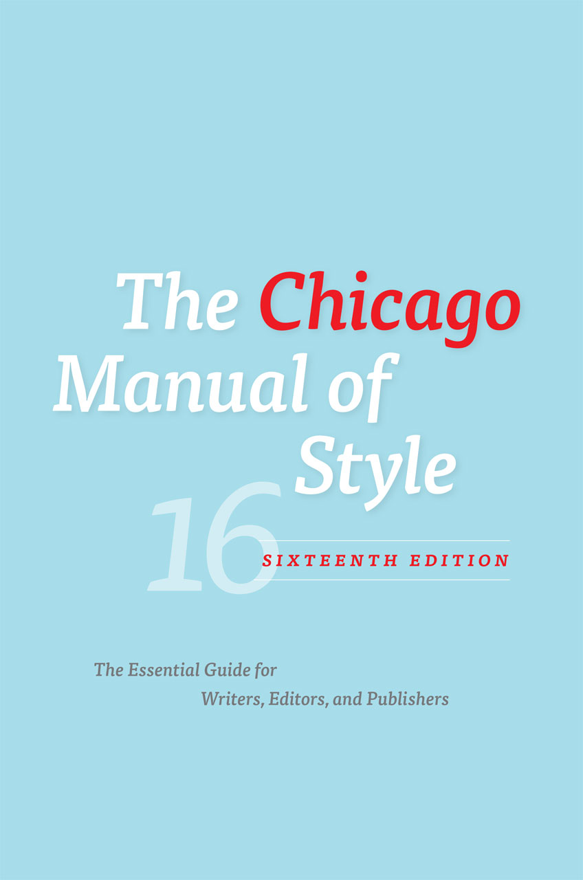 Cover art for the Chicago Manual of Style