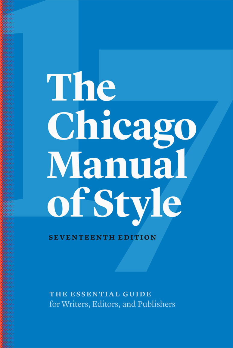 Cover of the 17th edition of the Chicago Manual of Style