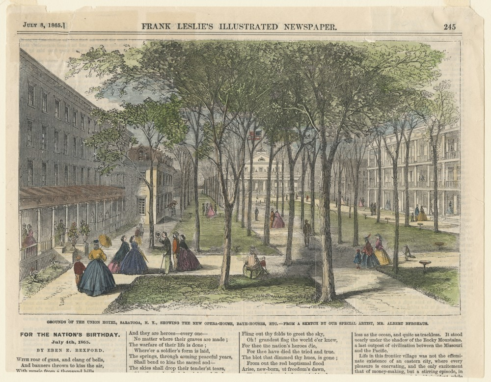Newspaper article with an image of the Union Hall