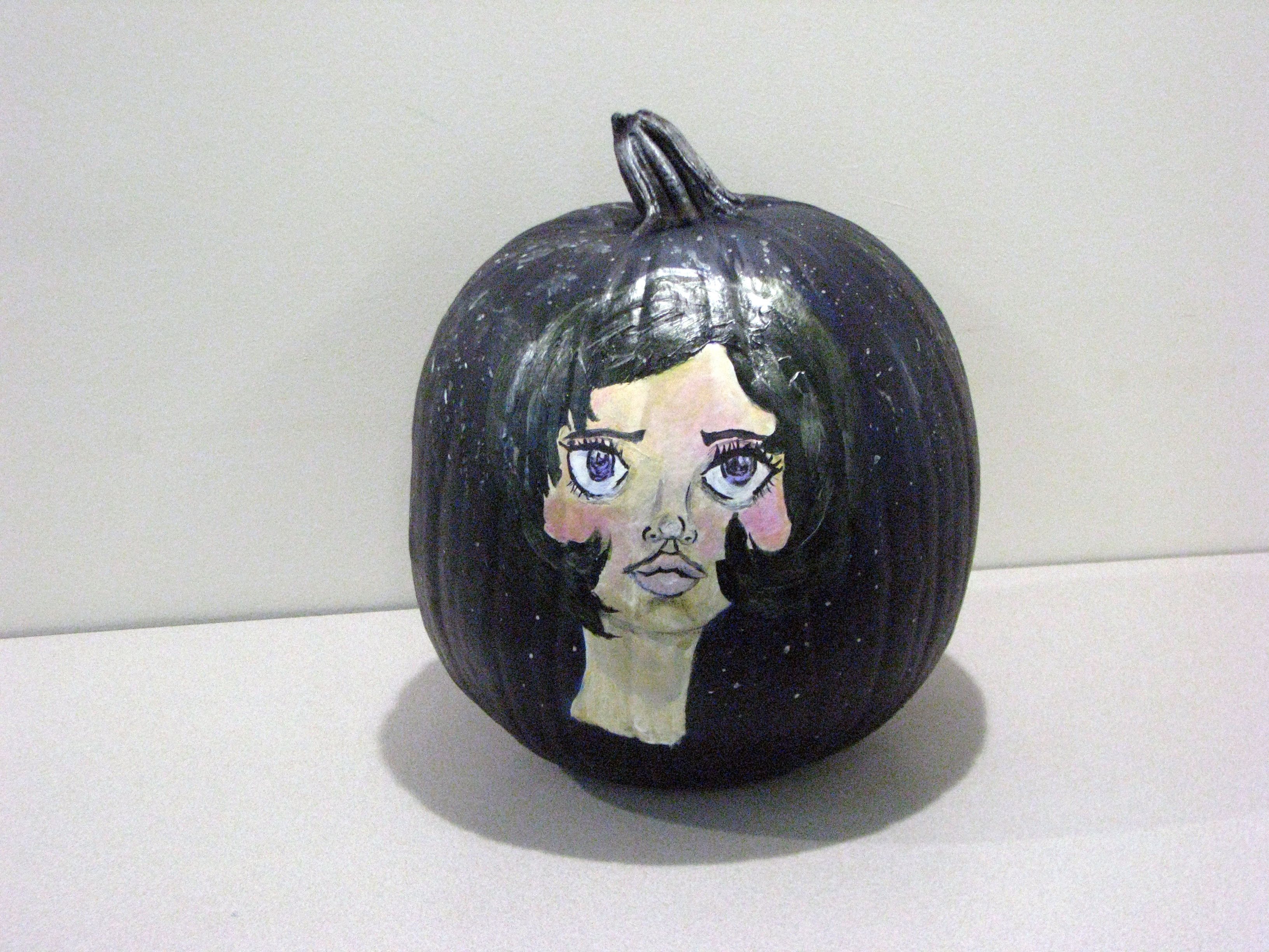 Pumpkin painted with a portrait