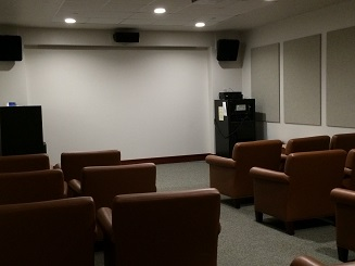 Picture of the media viewing room