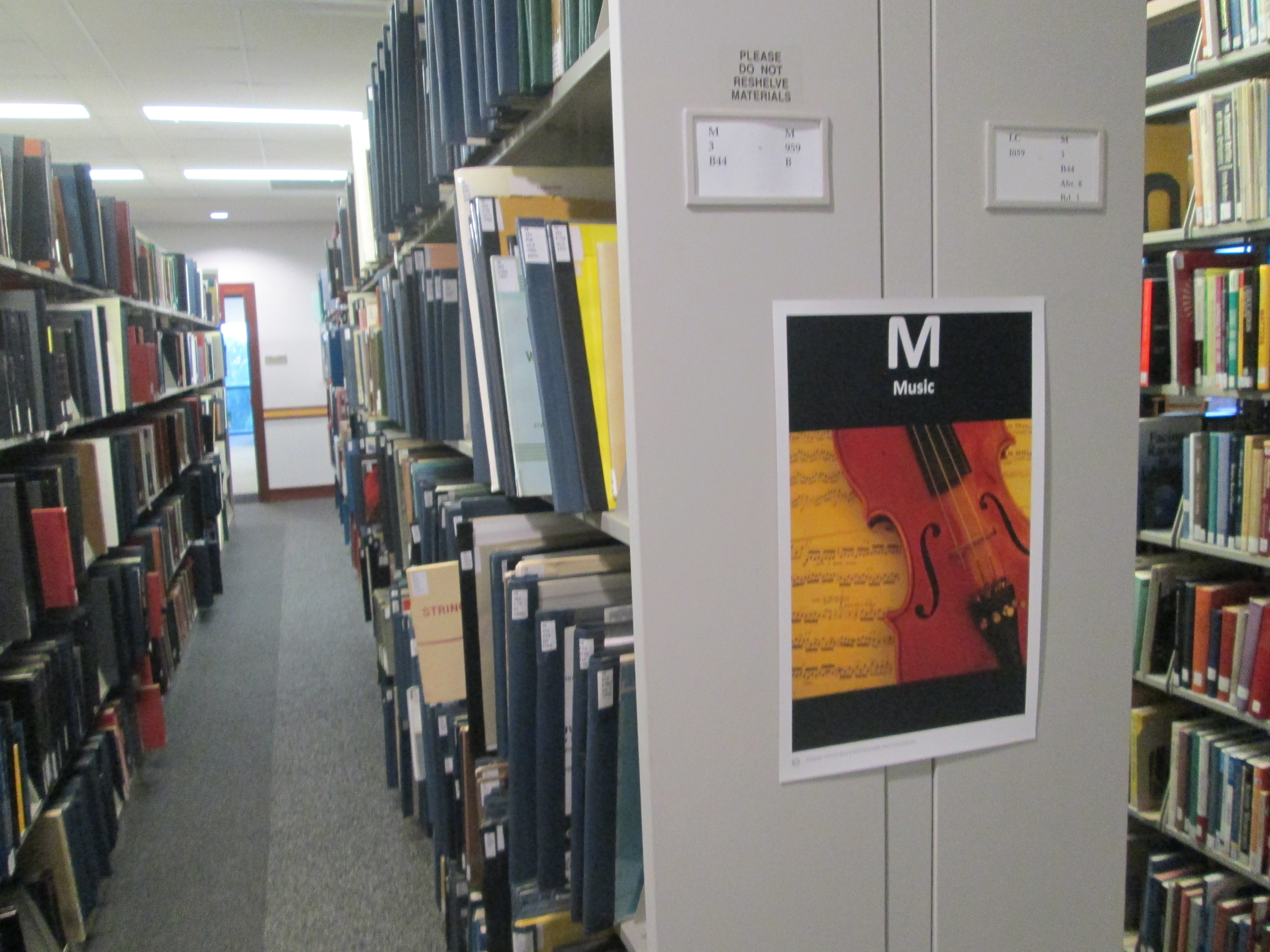 "Image of the ""M"" stack on the third floor of the library"