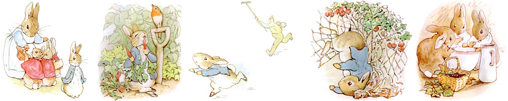 Images from The Tale of Peter Rabbit by Beatrix Potter