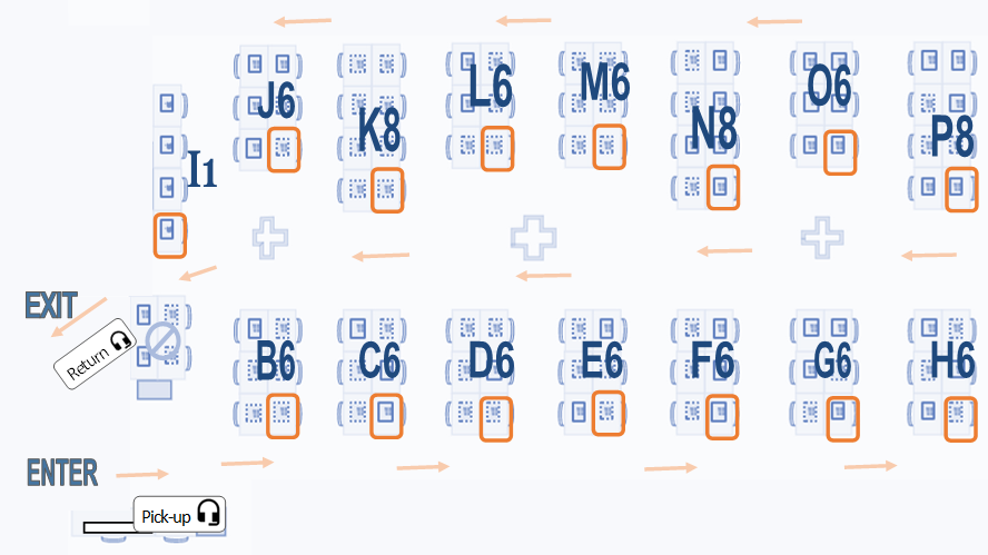 floorplan of computers identifying each by label