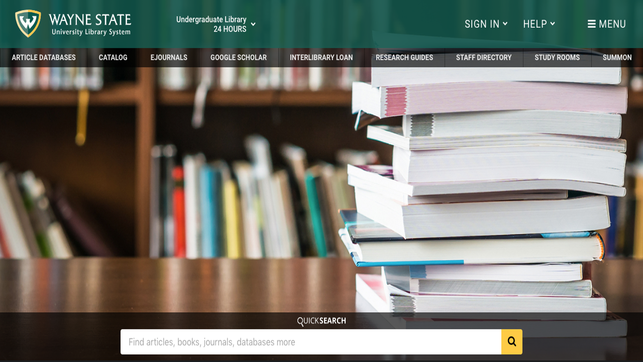 WSU Libraries Homepage