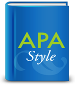 Icon of book with title APA Style
