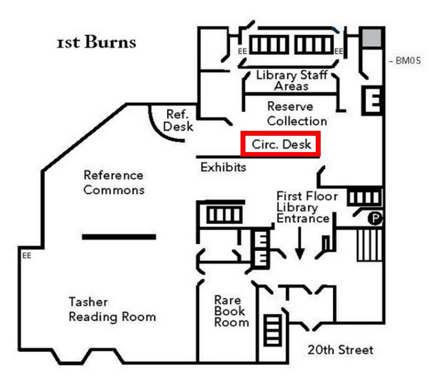 Circulation Desk Map