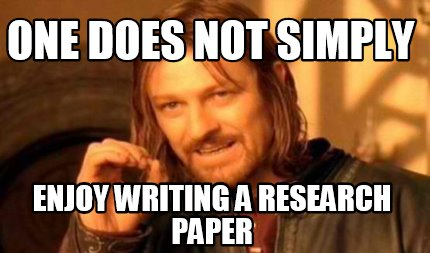 Research Paper Meme