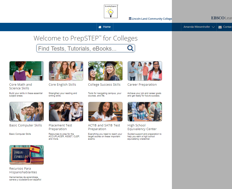 Image shows a screenshot of available PrepSTEP Centers.