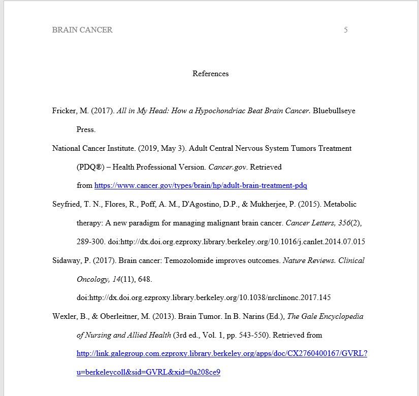 APA References page