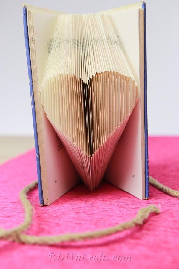 folded book heart