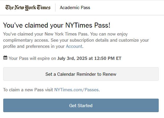 screen shot of claimed pass