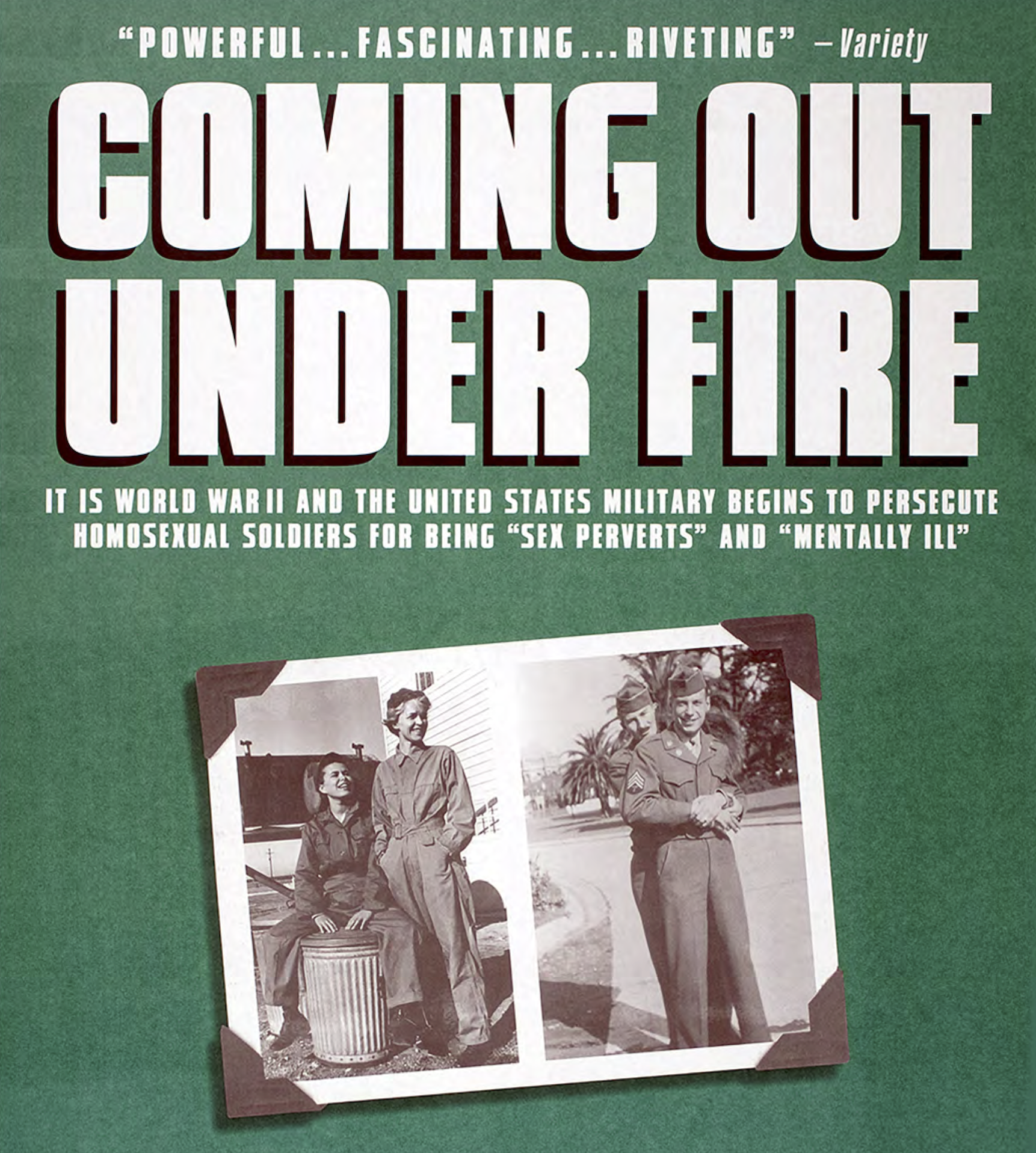 Poster from Coming Out Under Fire