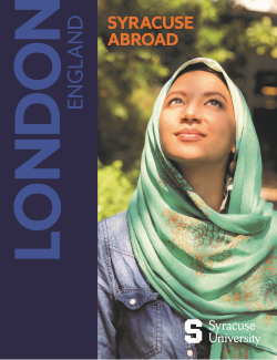 Syracuse Abroad - London viewbook cover