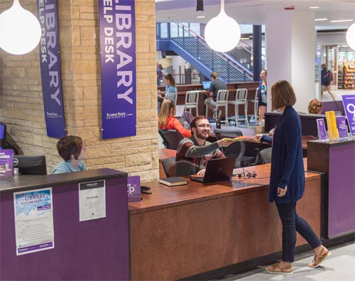Library Help Desk at the Union