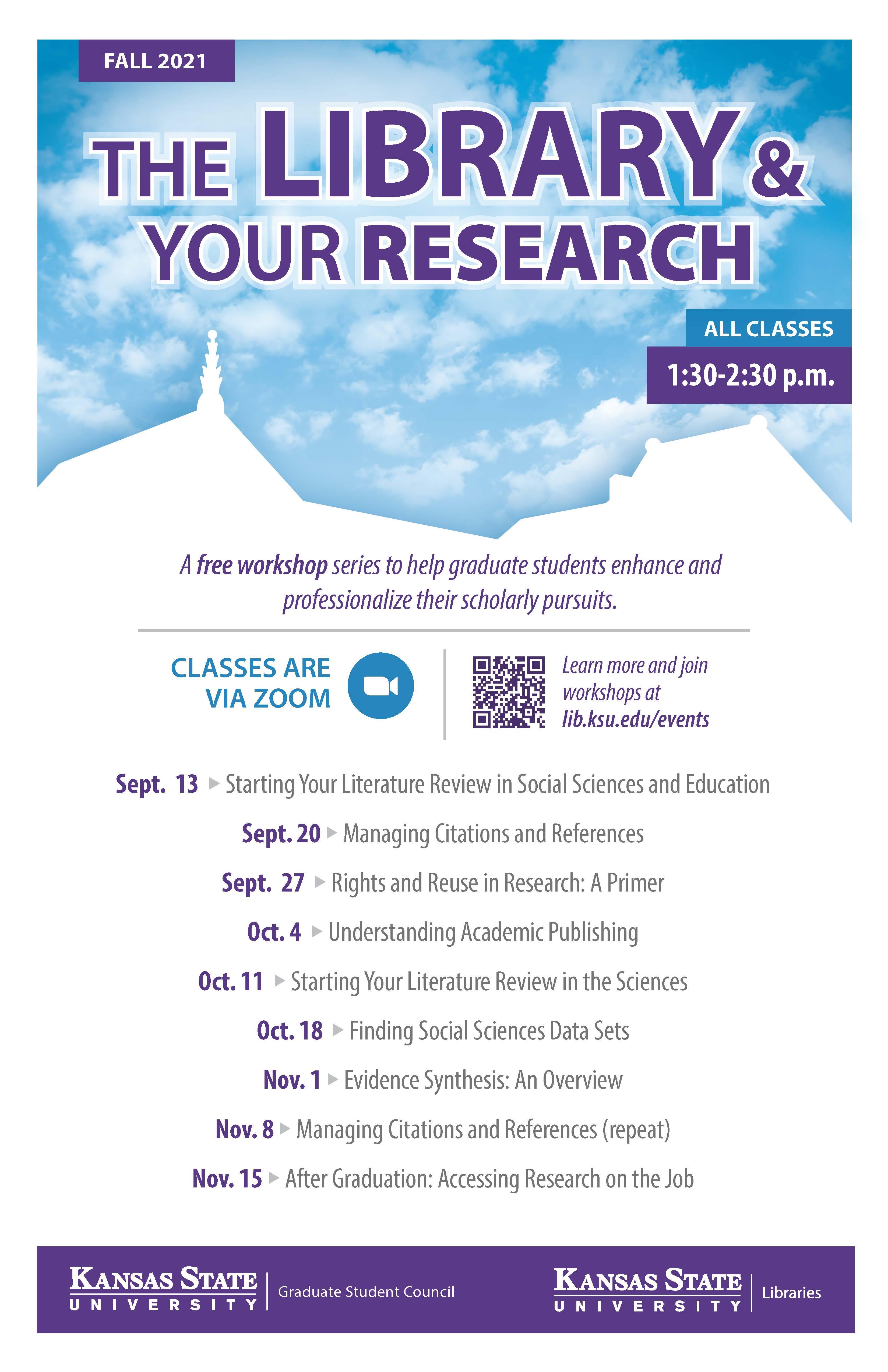 Grad workshop series poster Fall 2021