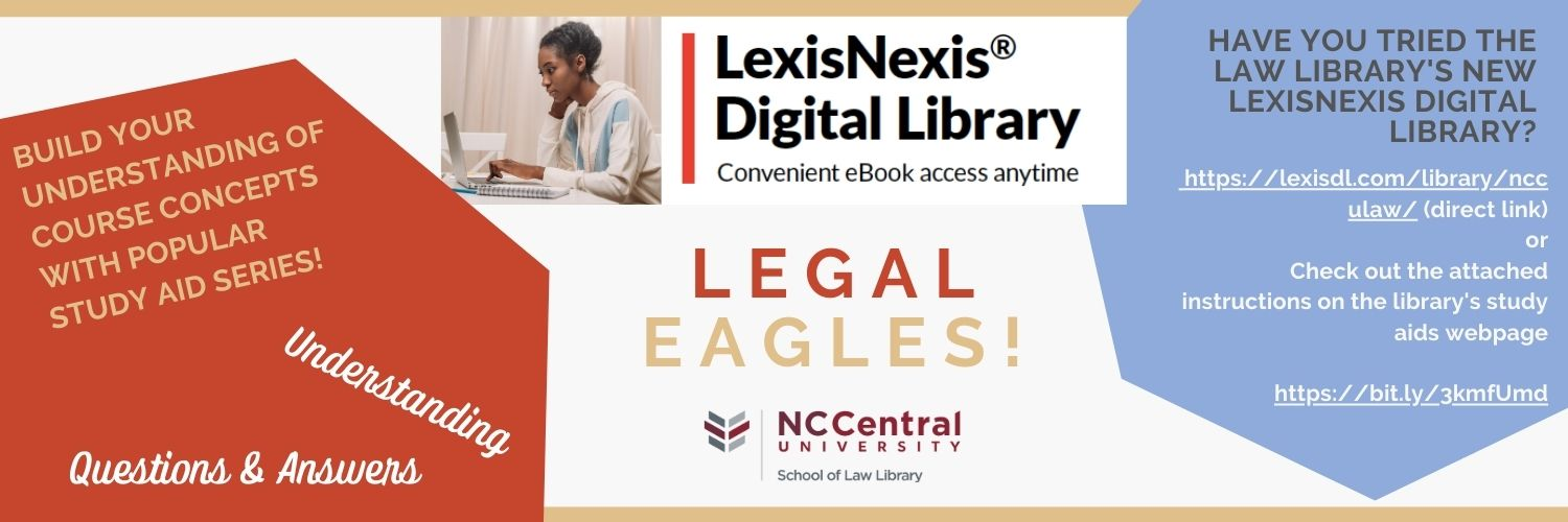 Lexis Nexis Digital Library study aid database graphic & link