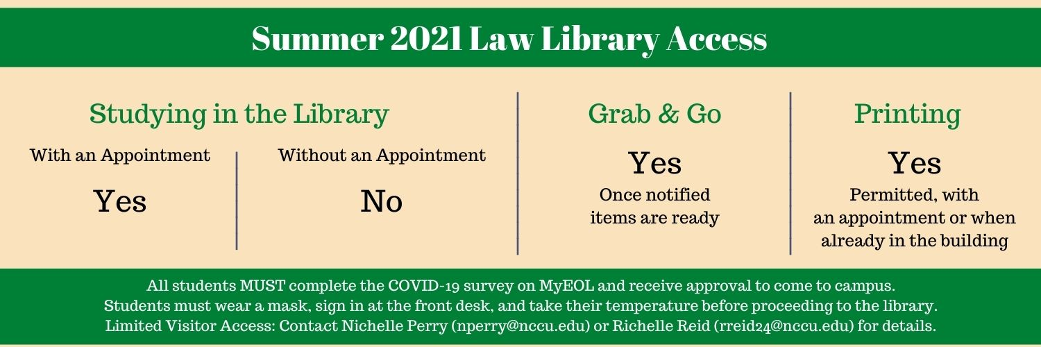 Library Access - Summer 2021
