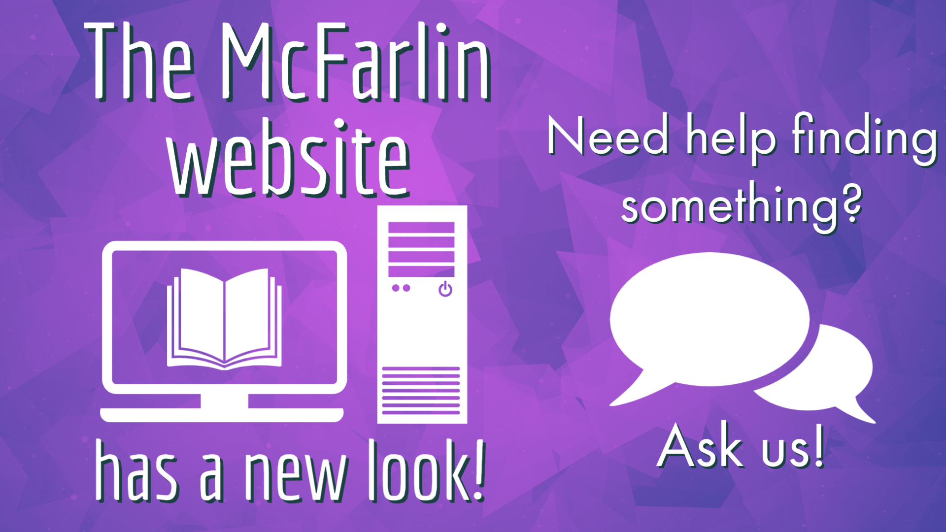 Ask a librarian for help with the new library website.