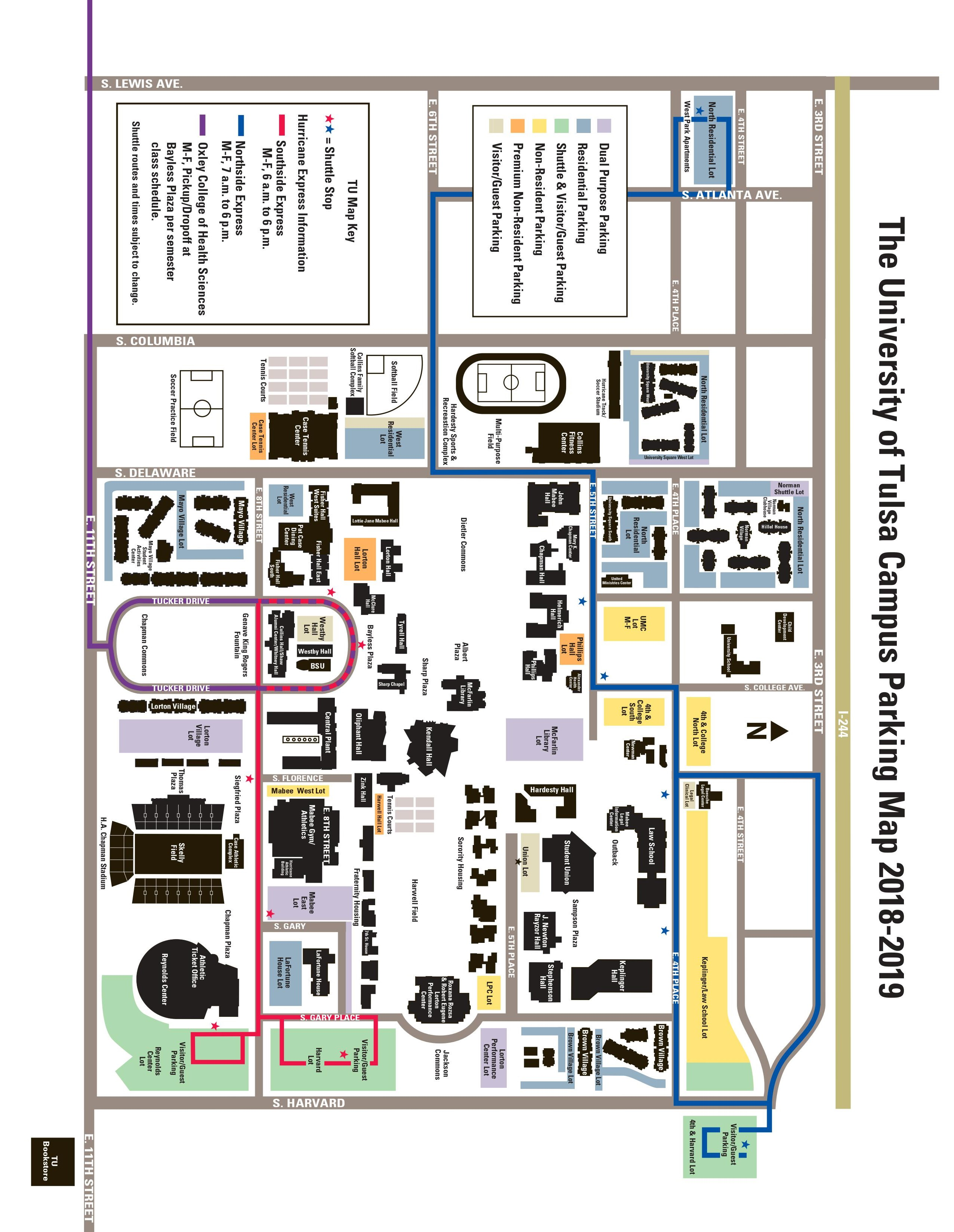 Campus Parking Map 2018-19