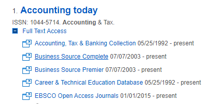 Database options for Accounting Today