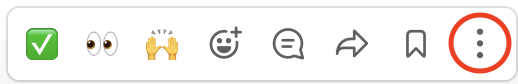 Slack post menu