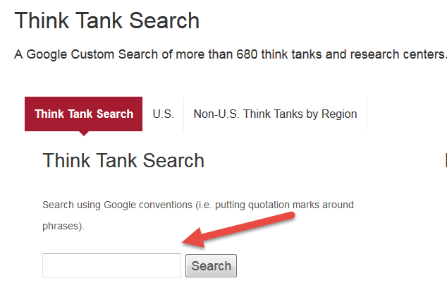 think tank search