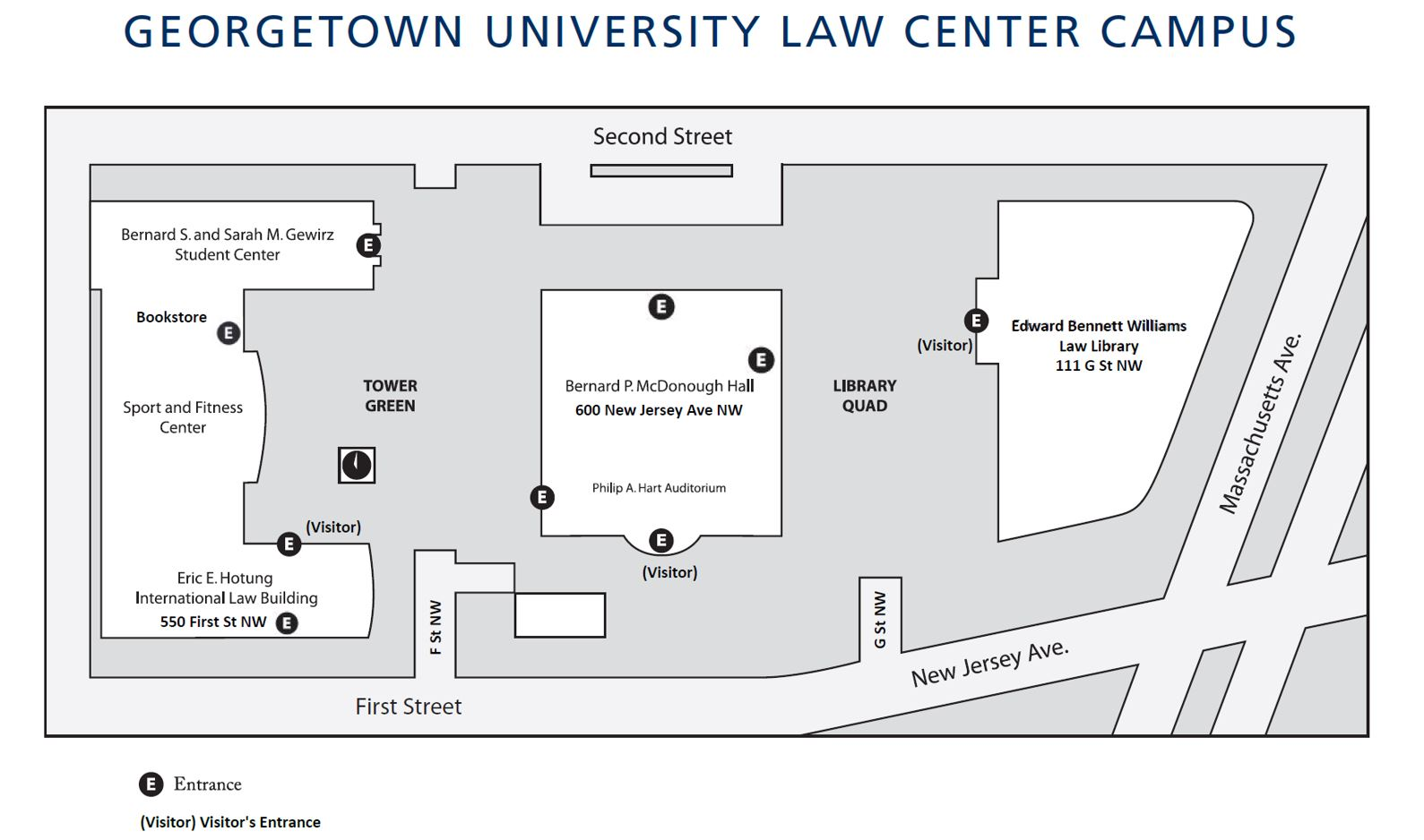 Georgetown Law Center Campus Map