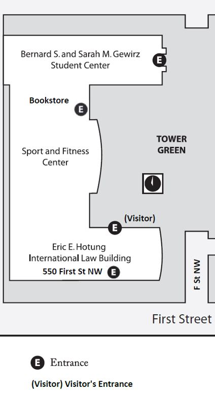 Location of Bookstore on Campus Map