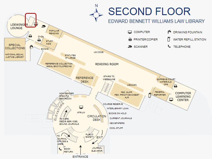 Map location of shredder bin