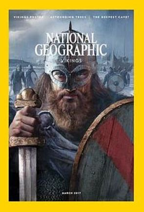National Geographic magazine cover showing a Viking