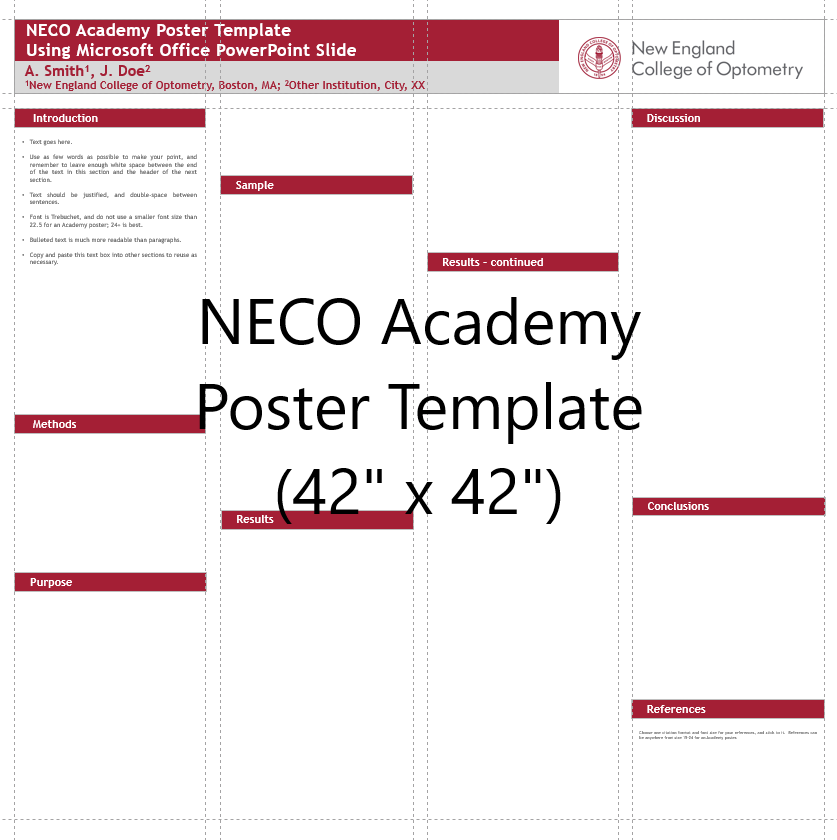 Academy Poster Template 42x42