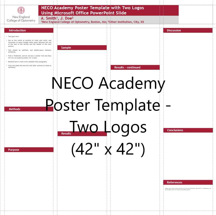 Academy Poster Template Two Logos 42x42