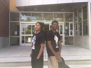 ARC students Wakeem & Gerald at the Library