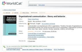 screenshot of Worldcat database