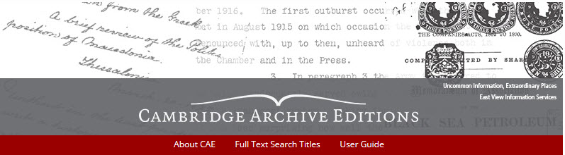 cambridge Archive editions logo